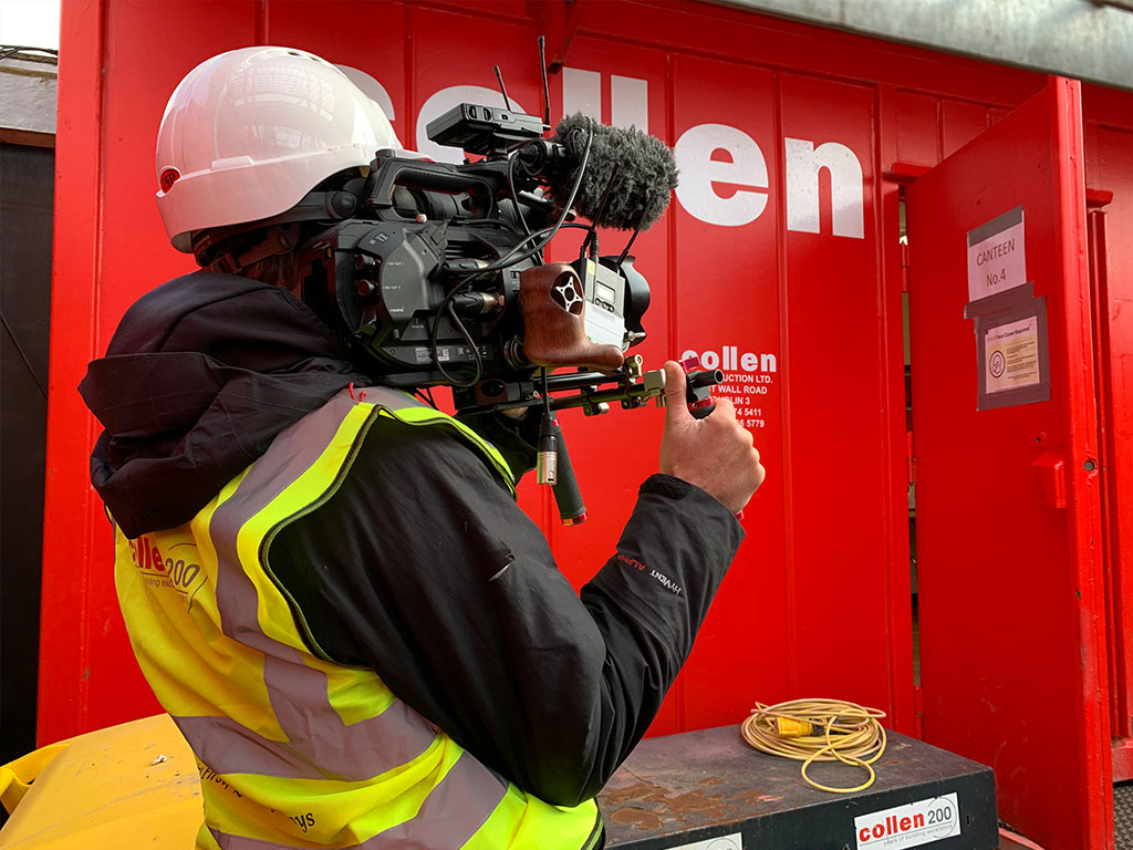 CIF Collen Construction Safety Week Filiming